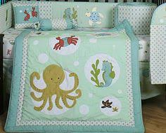 ocean crib sheets baby room decorating under the sea baby