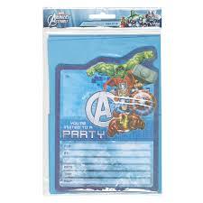 marvel avengers invites