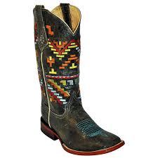 ferrini s boots size 11 s ferrini distressed black aztec boots boots