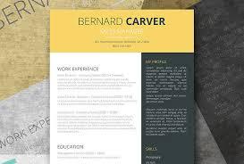 modern cv resume design sles free modern resume templates