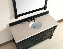 abstron 60 inch black finish single traditional bathroom vanity