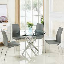 Round Glass Table And Chairs Glass Dining Table And 4 Chairs Upto 70 Off Furniture In Fashion