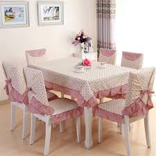 table and chair covers 13pcs set pastoral beautiful design table cloth set chair