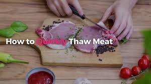 how to quickly thaw meat real simple
