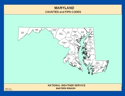 Md County Map Maps Maryland Counties And Fips Codes