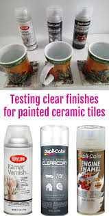 should i put a top coat on painted cabinets best heat resistant sealing finishes for tiles and coasters
