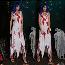 2016 new halloween party dress bloody mary pageant winner bloody