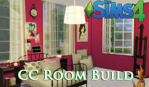 Design A Youth Bedroom The Sims 4 Cc House Build Episode 4 Teen Bedroom Youtube