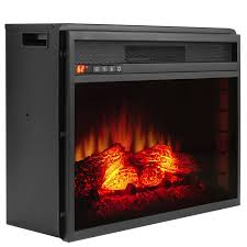 33 u2033 electric fireplace freestanding insert firebox orange 3d flame