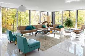Blue And Brown Living Room by Living Room Nice Design Brown And Turquoise 2017 Living Room