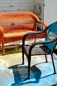 an easy patio update with vivid island inspired color