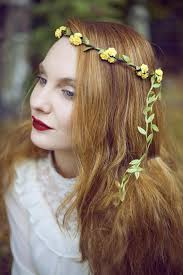festival headbands yellow flower crown flower crown wedding headband beauxoxo