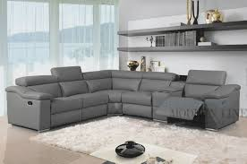 Grey Leather Recliner Sectional Sofa Design Grey Leather Sectional Sofa Chaise