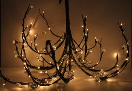 tree chandelier stunning diy chandelier made with tree branch livinator