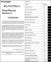 2006 hyundai elantra repair manual 1995 hyundai elantra repair shop manual original 2 vol set