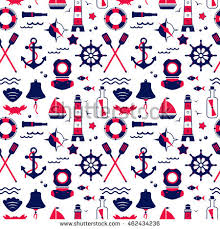seamless texture sailing elements pattern abstract stock vector