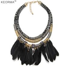 aliexpress vintage necklace images Keorma india tribal feather necklace women vintage handmade lots jpg