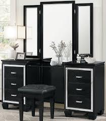 Black Vanity Allura Black Vanity With Mirror From Homelegance Coleman Furniture