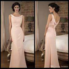 evening wedding bridesmaid dresses blush color scoop neck cheap bridesmaid dresses mermaid satin
