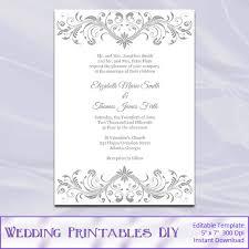 silver wedding invitations silver wedding invitation templates wedding invitations