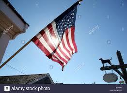 american flag flying in vineyard haven marthas vineyard cape cod
