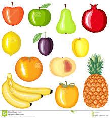 cartoon fruit set stock vector image of nature dessert 38996501