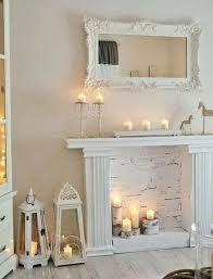 faux fireplace mantel more