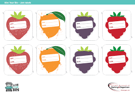 free jam labels slim your bin