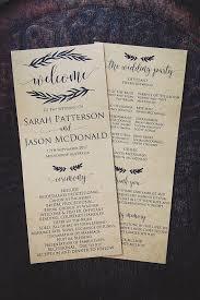 Rustic Wedding Program Template Printable Wedding Program Template Rustic Wedding Ceremony