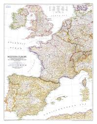 North Europe Map by 1950 Western Europe Map Historical Maps