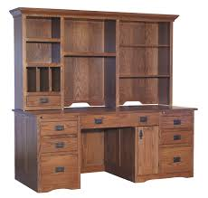 Mission Style Computer Desk With Hutch by Desks Page 1 Amish Furniture Gallery In Lockport Il