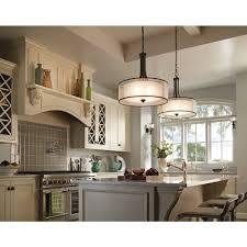 Kichler Lighting Kitchen Lighting by Kichler 20 Inch Double Drum Pendant Shade 42385miz Destination