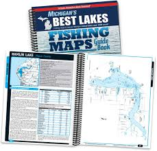 Map Of Michigan Lakes by Michigan U0027s Best Lakes Fishing Maps Guide Book Sportsman U0027s