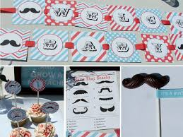 mustache themed baby shower supplies decorating of party