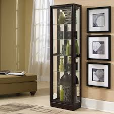 shop pulaski chocolate cherry ii curio cabinet at lowes com