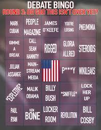 printable thanksgiving bingo the 2016 presidential debate bingo cards