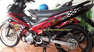 Modifikasi mobil dan motor jual stiker striping motor yamaha new jupiter mx monster energy mx monster trpsang