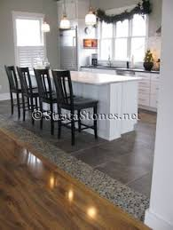 Kitchen Hardwood Floors by Awesome Dark Ideas Awesome Dark Ocean Pebble Tile Kitchen Floor