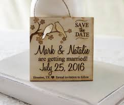 rustic save the dates save the date magnet wedding announcement wood save the