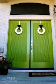 green front door colors tragic sensation behind the green doors