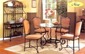 Wrought Iron Dining Table And Chairs Wrought Iron Dining Room Sets Glass Top Table Chairs Powncememe