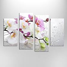 Prints For Home Decor Amazon Com Hello Artwork 4 Panels Beautiful Butterfly Orchid