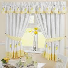 Ideas For Kitchen Curtains Kitchen Modern Yellow Curtains Uotsh