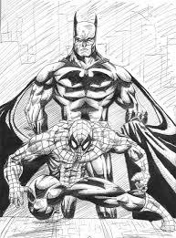 spiderman batman sketch by jtorreillus on deviantart