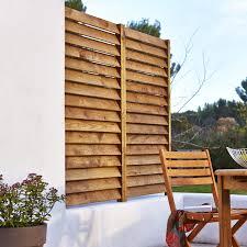 soubassement bois kit kit panneau persienné bois naturel l 80 x h 180 cm x ep 33 3 mm