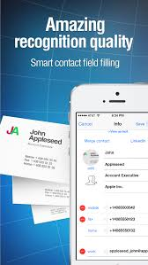 App To Scan Business Cards Business Card Reader For Iphone Scan Business Card And Store