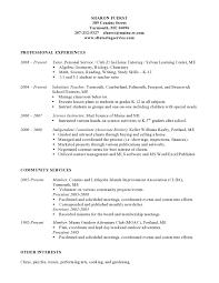 Sample Resume For Substitute Teacher by Resume Math Tutor Resume