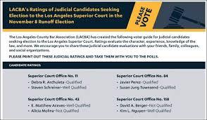 Seeking Ratings Lacba Seeks To Promote Candidacies Of Three Judicial Aspirants