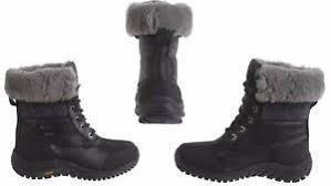 s ugg australia adirondack boots s ugg australia adirondack ii leather waterproof boots black
