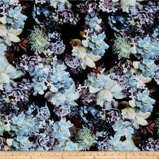 Home Decor Print Fabric Mystic Meadow Digital Print Floral Moonstruck Discount Designer